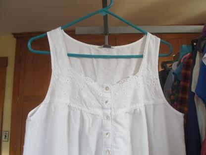 Before, sleeveless nightgown.