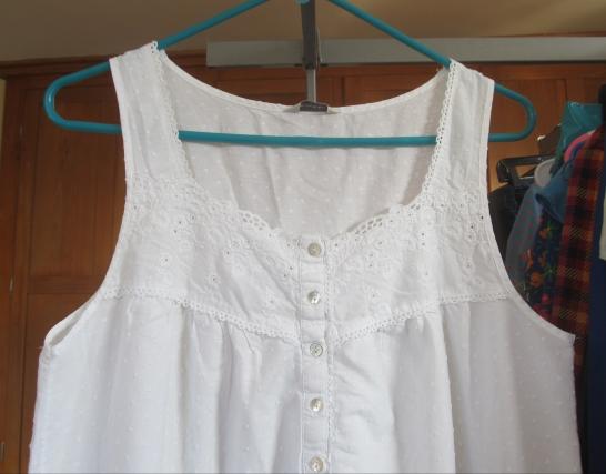 Before, sleeveless nightgown