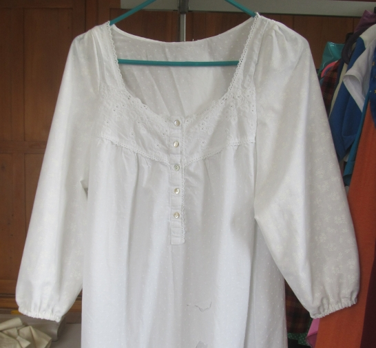 After, nightgown with new sleeves